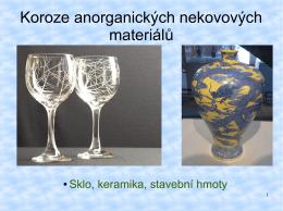 Koroze anorganických nekovových materiálů