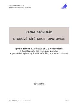 KR Opatovice - Vodovody a kanalizace Vyškov, as