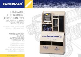 Produktový leták dezinfekce vody EuroClean OXCL