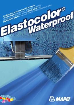 Pružný nátěr na bázi akrylových pryskyřic ve vodní disperzi