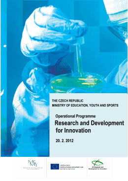 Research and Development for Innovation