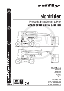 HR15N/17N (SP45N/50N) Operating Manual