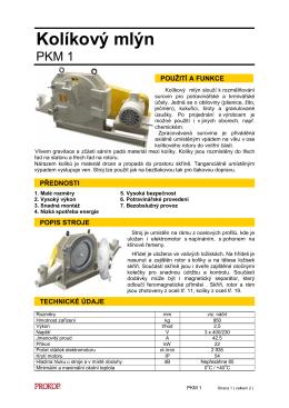Kolíkový mlýn PKM 1 _ č.30 _