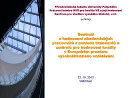 Prezentace-Talasova - Rada vysokých škol