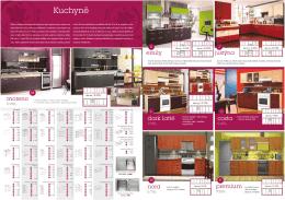 Katalog - ceník levných kuchyní