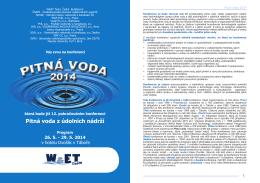 Pitná voda z údolních nádrží - Československá asociace