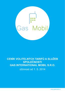 Ceník Gas mobil