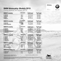 Ceník - BMW Motorrad