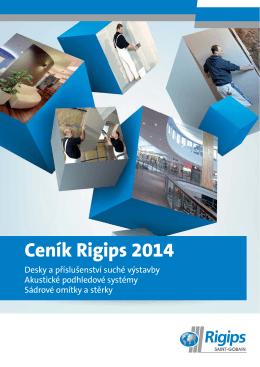 Ceník Rigips 2014