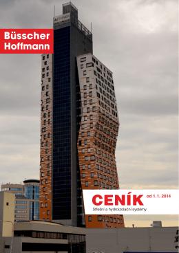 CENÍK od 1. 1. 2014 - Büsscher & Hoffmann