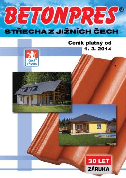 Ceník platný od 1. 3. 2014 - BETONPRES Týn nad Vltavou sro