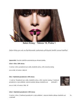 Salon Krásy Těšnov 15, Praha 1