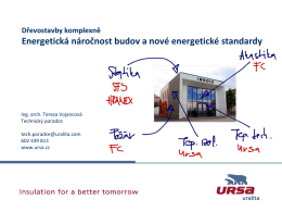 Energetická náročnost budov a nové energetické standardy