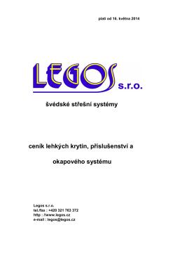 Ceník střešní krytiny ve formátu PDF