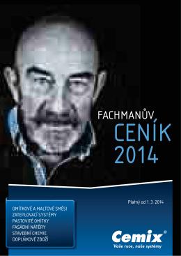 základní ceník Cemix 2014
