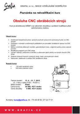 Obsluha CNC obráběcích strojů (.pdf)
