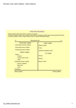 Rozvaha, účet, účetní doklady