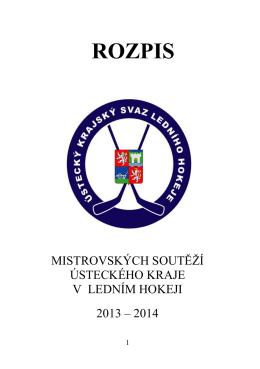 Rozpis soutěží Ústeckého kraje 2013-14