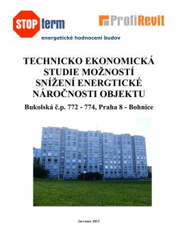 Technicko ekonomická studie Bukolská