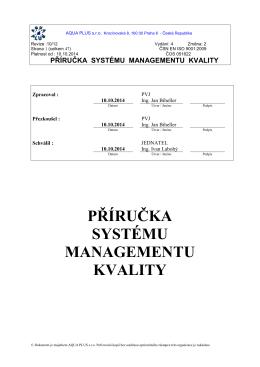 """Výběr z """"Příručky jakosti"""" (PDF)."""