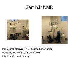 Seminář NMR