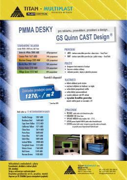 desky QUINN CAST DESIGN - TITAN