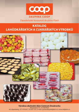 Katalog výrobků (PDF) - Západočeské konzumní družstvo Plzeň