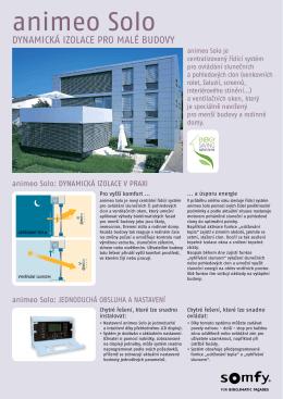 Animeo Solo : Dynamická izolace pro malé budovy