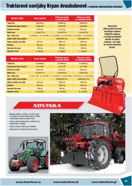 Traktorové navijáky Krpan dvoububnovés vlastním hydraulickým