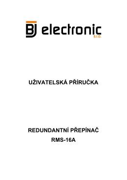 uživatelská příručka redundantní přepínač rms-16a