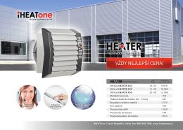 Teplovodní ohřívače - Teplovodní ohřívač vzduchu | iHEATone
