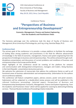 """Perspectives of Business and Entrepreneurship"