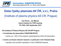 Ústav fyziky plazmatu AV ČR, vvi, Praha