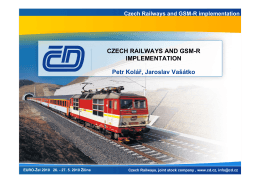 Czech Railways and GSM-R implementation - EURO