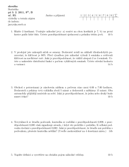 zkouška Statistika pá 3. 2. 2011, 900, B uč. H1 výsledky a termín