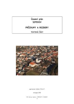Územní plán SEPEKOV PRŮZKUMY A ROZBORY