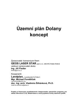 Územní plán Dolany koncept