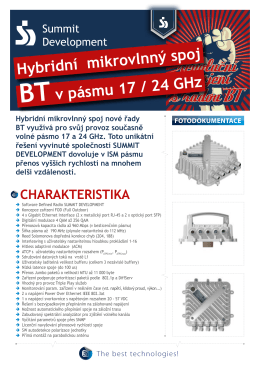 hybridní mikrovlnný spoj Btv pásmu 17 / 24 GHz