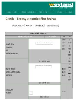 Ceník -‐ Terasy z exotického řeziva