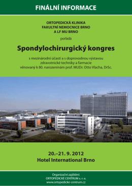 Spondylochirurgický kongres - ORTOPEDICKÉ CENTRUM s.r.o.