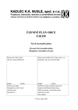 Územní plán obce Újezd - Obec Újezd u Cerhovic