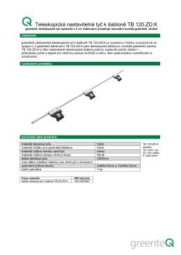 greenteQ teleskopická šablona pro závěsy