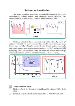 detektory maximální- špičkové hodnoty