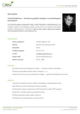 Životopis v PDF - Tomáš Haškovec