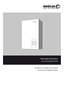 Technické informace - Plynové kondenzační kotle BRÖTJE