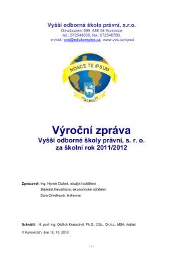 výroční zpráva za rok 2011/12