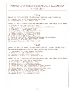 1940 – 1983 - Střední průmyslová škola kamenická a sochařská
