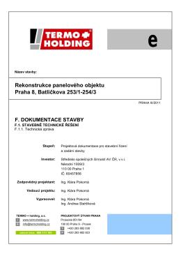 Rekonstrukce panelového objektu Praha 8, Batličkova 253/1