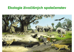 Ekologie šivočiłnđch společenstev