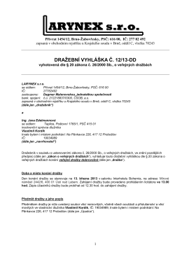 Dražební vyhláška Areál Sobědruhy - Teplice - 1